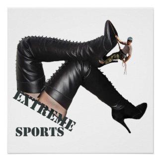 Extremer Sport - STIEFEL Klettern Poster