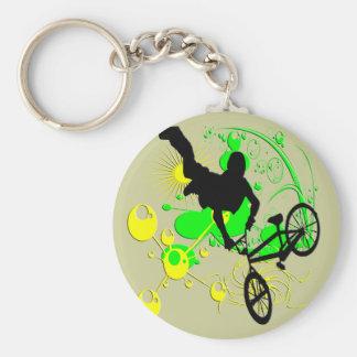 Extremes Radfahren Standard Runder Schlüsselanhänger