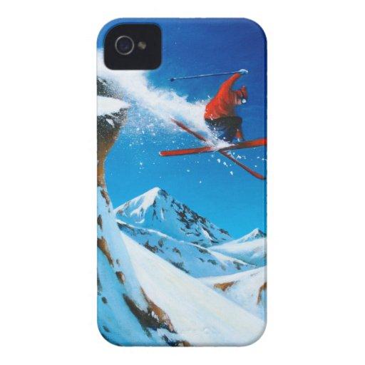 Extremes Skifahren iPhone 4 Case-Mate Hüllen
