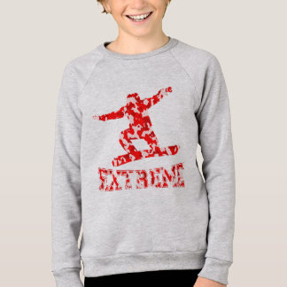 EXTREMES Snowboarder 1 ROTE CAMOUFLAGE Sweatshirt