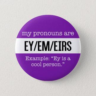 Ey/Em Pronomina - Geschlechts-kreative Flagge Runder Button 5,7 Cm
