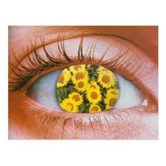Eye-flowered Postcard Postkarte