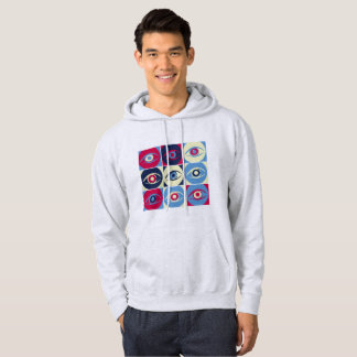 Eyes collage, abstract hoodie
