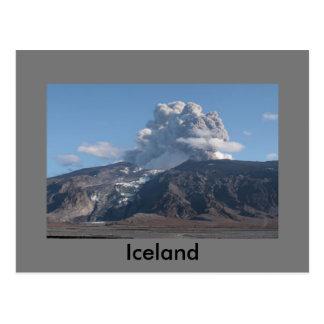 Eyjafjallajökull Eruption, Island Postkarte