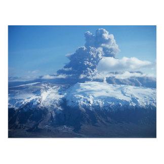 Eyjafjallajökull vulkanische Eruption Island Postkarte