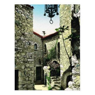 Eze Dorf, Alpes Maritimes Postkarte