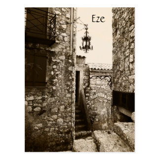 Eze, Provence, eine Postkarte der ruhigen Straße
