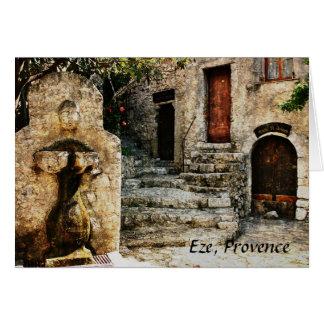 Eze, Provence-Grußkarte Karte