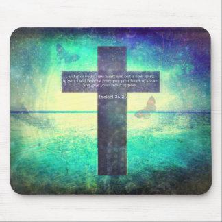 Ezekiel 36:26 inspirierend Bibel-Vers Mauspad