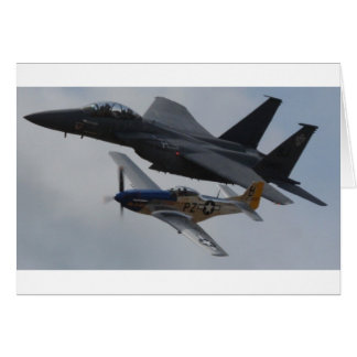 F-15 EAGLE + BILDUNG DES MUSTANG-P-51 KARTE