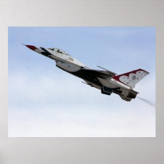 F-16 Thunderbird im Flug Poster