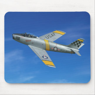 "F-86F ""Beautious maskuliner Typ "" Mousepads"