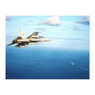 F/A-18A Hornissen-Streik-Kämpfer-Geschwader 87 Leinwanddruck