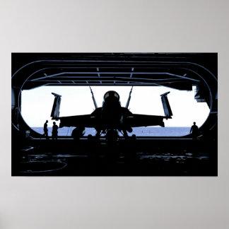 F/A-18C Hornisse an Bord des USS Nimitz (CVN 68) Plakat