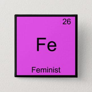 F.E. - Feministisches lustiges Quadratischer Button 5,1 Cm