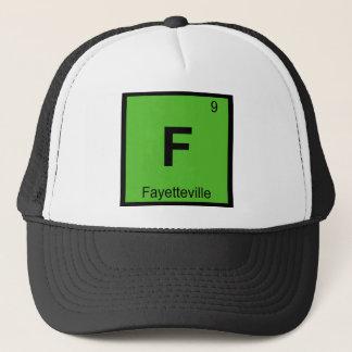 F - Fayetteville-Stadt-Chemie-Periodensystem Truckerkappe