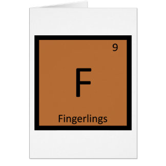 F - Fisch-Chemie-Periodensystem-Symbol Karte