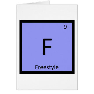 F - Freistil-Skifahren-Chemie-Periodensystem Karte