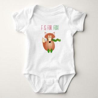 F für Fox Babygrow Tshirts