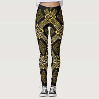 f-Golddiagonale Leggings