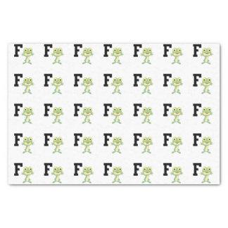 F ist für Froschmann Seidenpapier