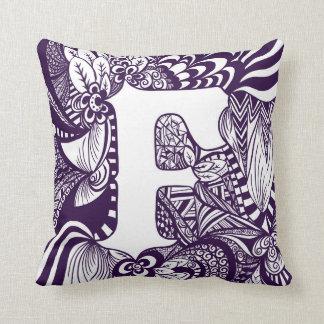 F Monogram Pillow
