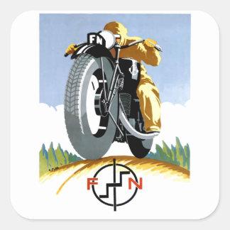 F-Nmotorräder 1925, die Plakat annoncieren Quadratischer Aufkleber