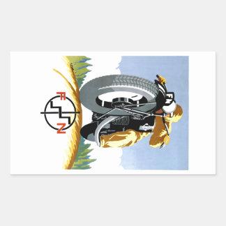 F-Nmotorräder 1925, die Plakat annoncieren Rechteckiger Aufkleber