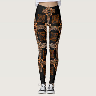 f-Orangenquadrat Leggings