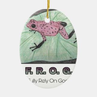 F.R.O.G. - Bauen Sie völlig auf Gott Keramik Ornament