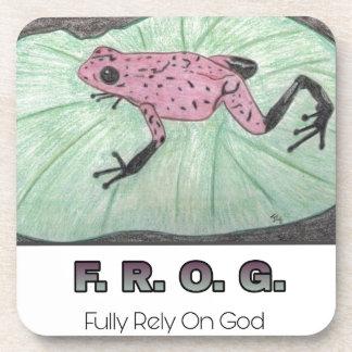 F.R.O.G. - Bauen Sie völlig auf Gott Untersetzer