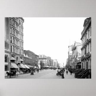F-Straße, Washington, DC, 1906 Poster