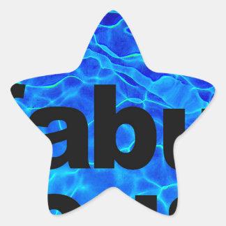 fabelhaft Stern-Aufkleber