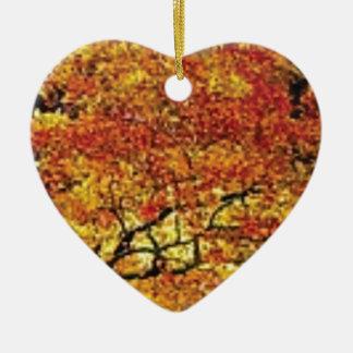 fabelhafte Fallfarbe Keramik Herz-Ornament