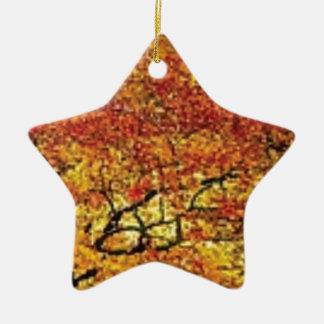 fabelhafte Fallfarbe Keramik Stern-Ornament
