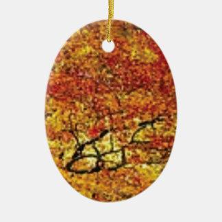 fabelhafte Fallfarbe Ovales Keramik Ornament