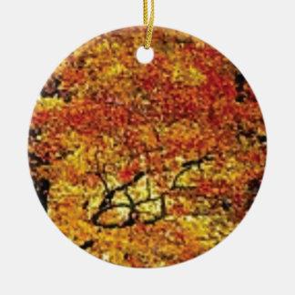 fabelhafte Fallfarbe Rundes Keramik Ornament
