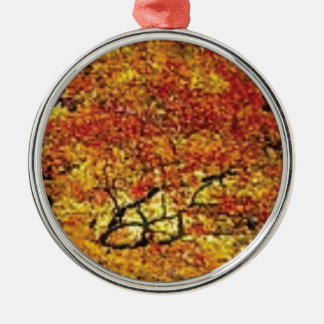 fabelhafte Fallfarbe Rundes Silberfarbenes Ornament