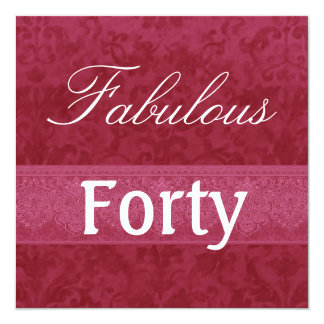 Fabelhafte Geburtstags-Schablone W1034 des Quadratische 13,3 Cm Einladungskarte