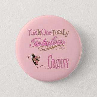 Fabelhafte Oma mit Schmetterling Runder Button 5,1 Cm