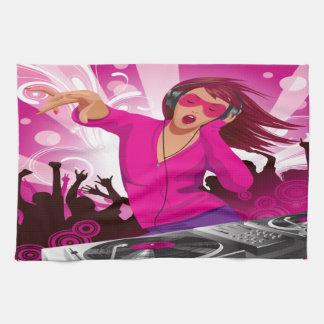 Fabelhafte rosa Dame DJ Handtücher