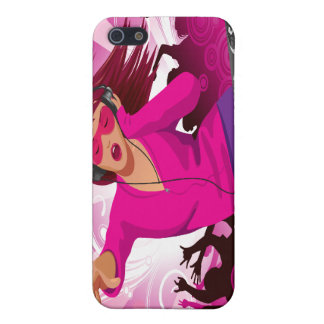 Fabelhafte rosa Dame DJ iPhone 5 Hüllen