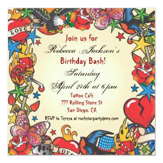 Fabelhafte Tätowierungs-Party Einladung