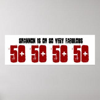 Fabelhafter 50 Geburtstags-Party-Fahnen-individuel Posterdrucke