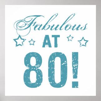 Fabelhafter 80. Geburtstag Poster