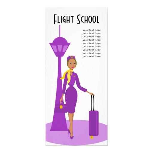 Fabelhafter Flugbegleiter Vollfarbige Werbekarte