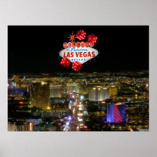 Fabelhaftes Las Vegas-Streifen-Plakat Poster