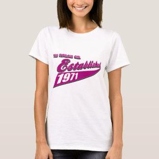 Fabelhaftes Mädchen stellte 1971 her T-Shirt