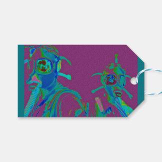 Fabrik-Frauen in den Gänseblümchen-Gasmasken Geschenkanhänger