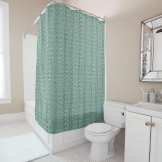 fabu - Weiß und Grün Duschvorhang